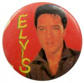 Elvis Presley - 'Elvis Red' Button Badge